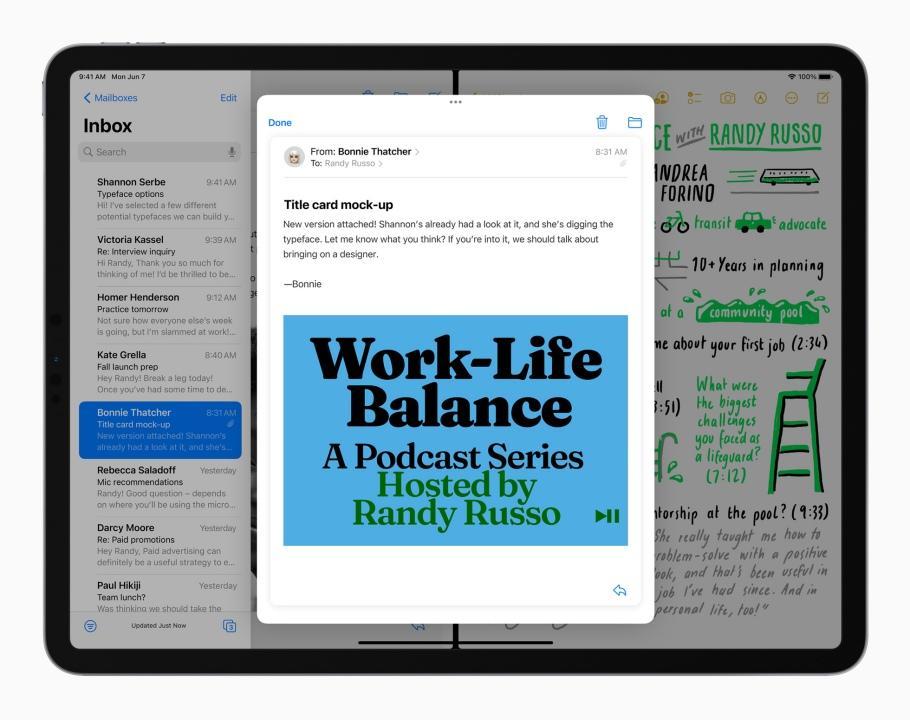 iPadOS 15 เน้นเรื่องการทำงานแบบมัลติทาสก์