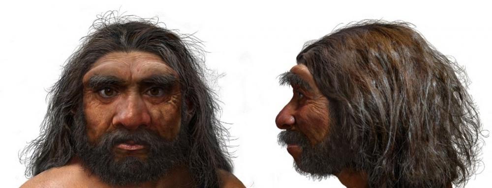 ภาพวาดมนุษย์มังกร มนุษย์โบราณที่พบฟอสซิลกะโหลกศีรษะที่จีน โดยทีมนักวิจัยระบุเป็นมนุษย์โบราณสายพันธุ์ใหม่