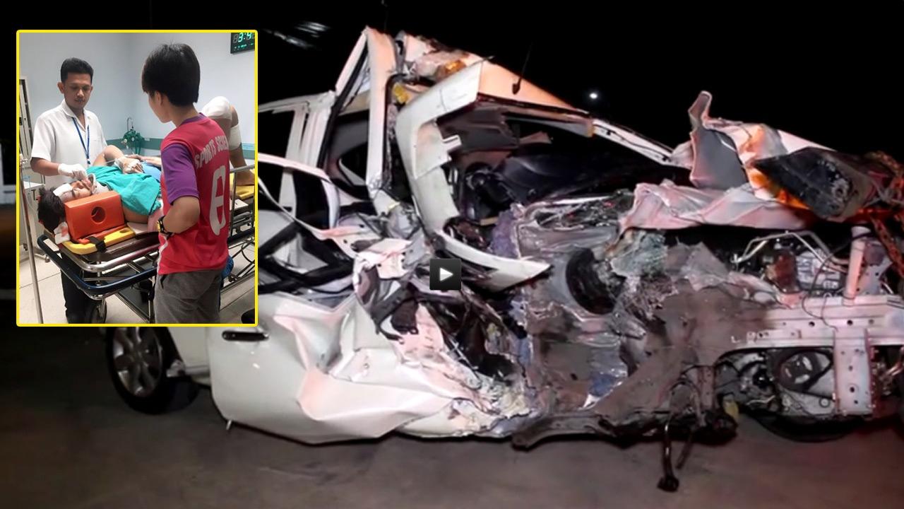 ช็อก! โกล 'ชัยนาท' ขับเก๋งชนท้ายรถ 6 ล้อ ถูกอัดติดอยู่ในรถ อาการสาหัส