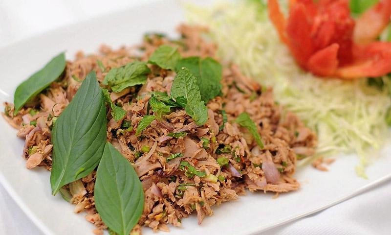 อาหารคลีน ลาบปลาทูน่า