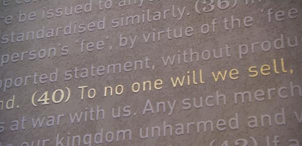 มาตรา40ในอาคารจัดแสดง Magna Carta