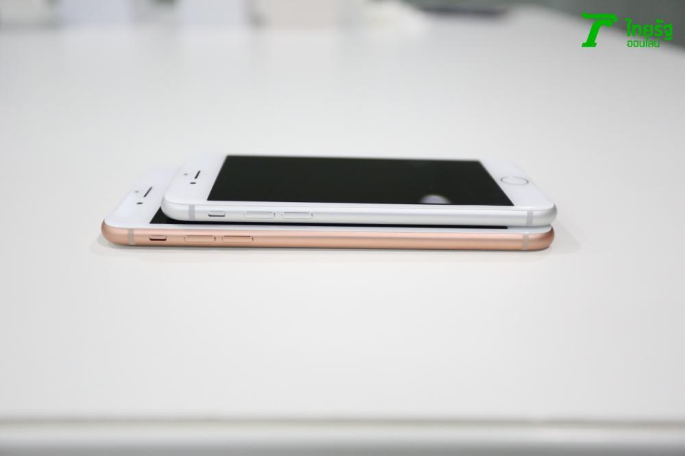 เทียบด้านข้าง iPhone 8 และ iPhone 8 Plus