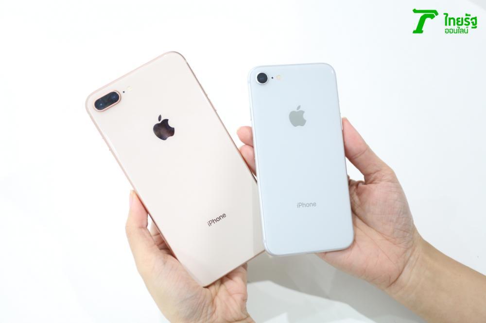 เปรียบเทียบด้านหลัง iPhone 8 และ iPhone 8 Plus