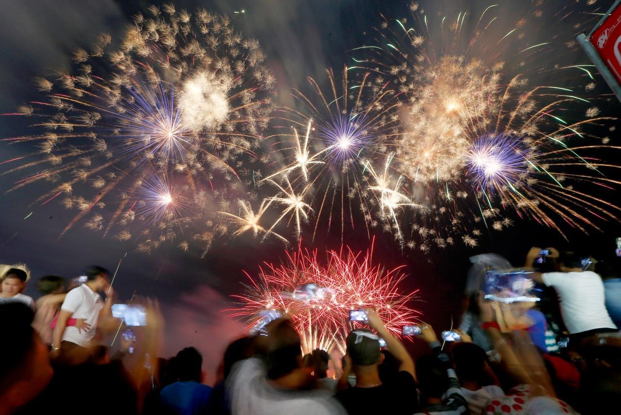พลุไฟฉลองปีใหม่ที่ ปาไซ ฟิลิปปินส์