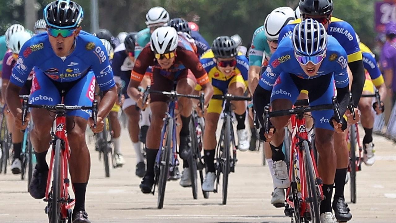"""""""ธนาวุฒิ"""" แชมป์สเตจแรกพ่วงผู้นำเวลารวม จักรยานทัวร์ ออฟ ไทยแลนด์ 2020"""