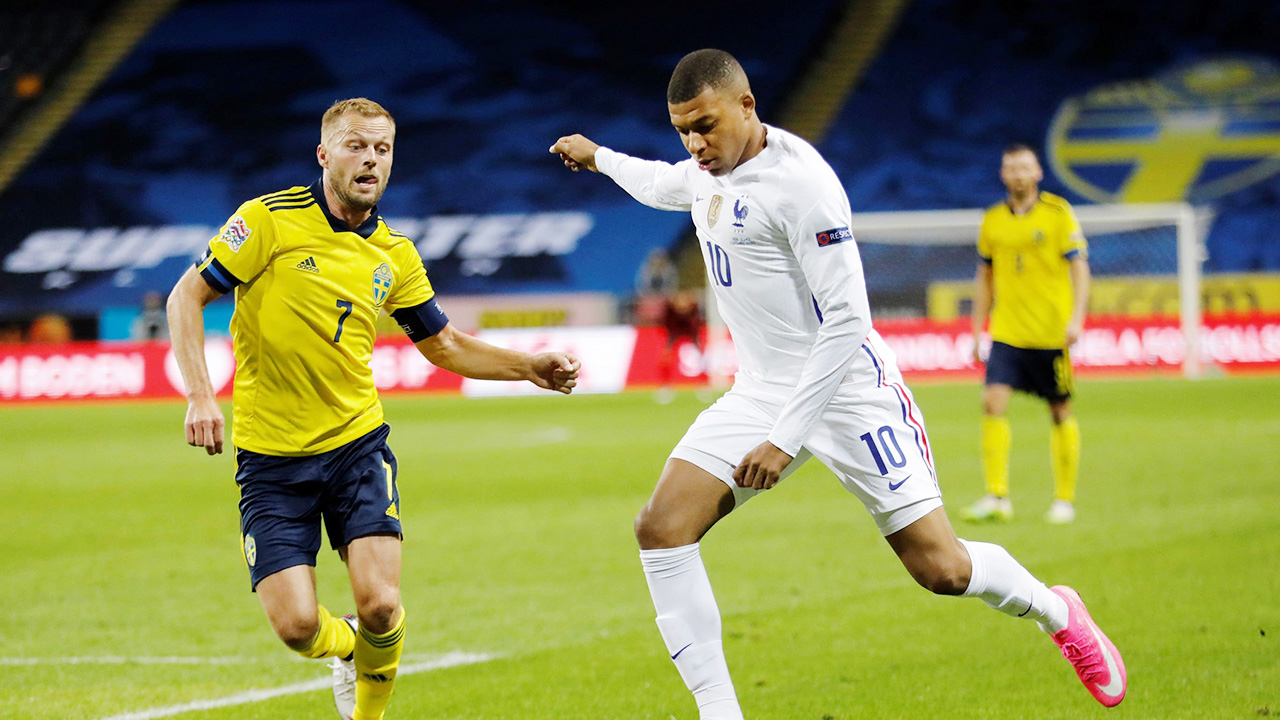 """""""เอ็มบัปเป"""" ซัดโทน ฝรั่งเศสบุกสอยสวีเดน 1-0 เนชั่นส์ลีก"""