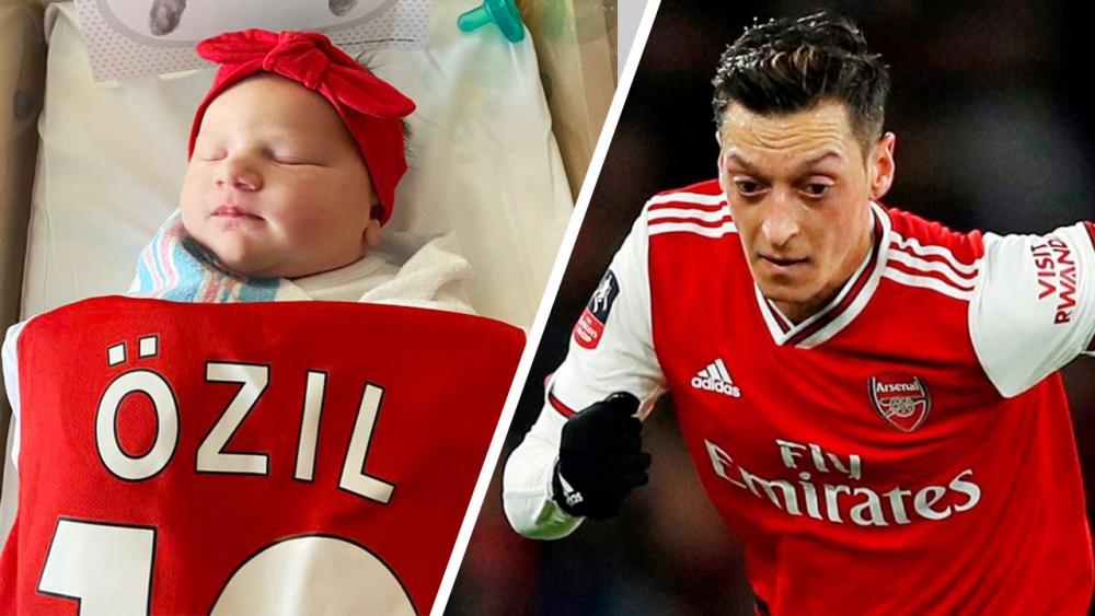 """เมซุต โอซิล ร่วมแสดงความยินดีกับทารกน้อยที่ชื่อ """"โอซิล"""""""