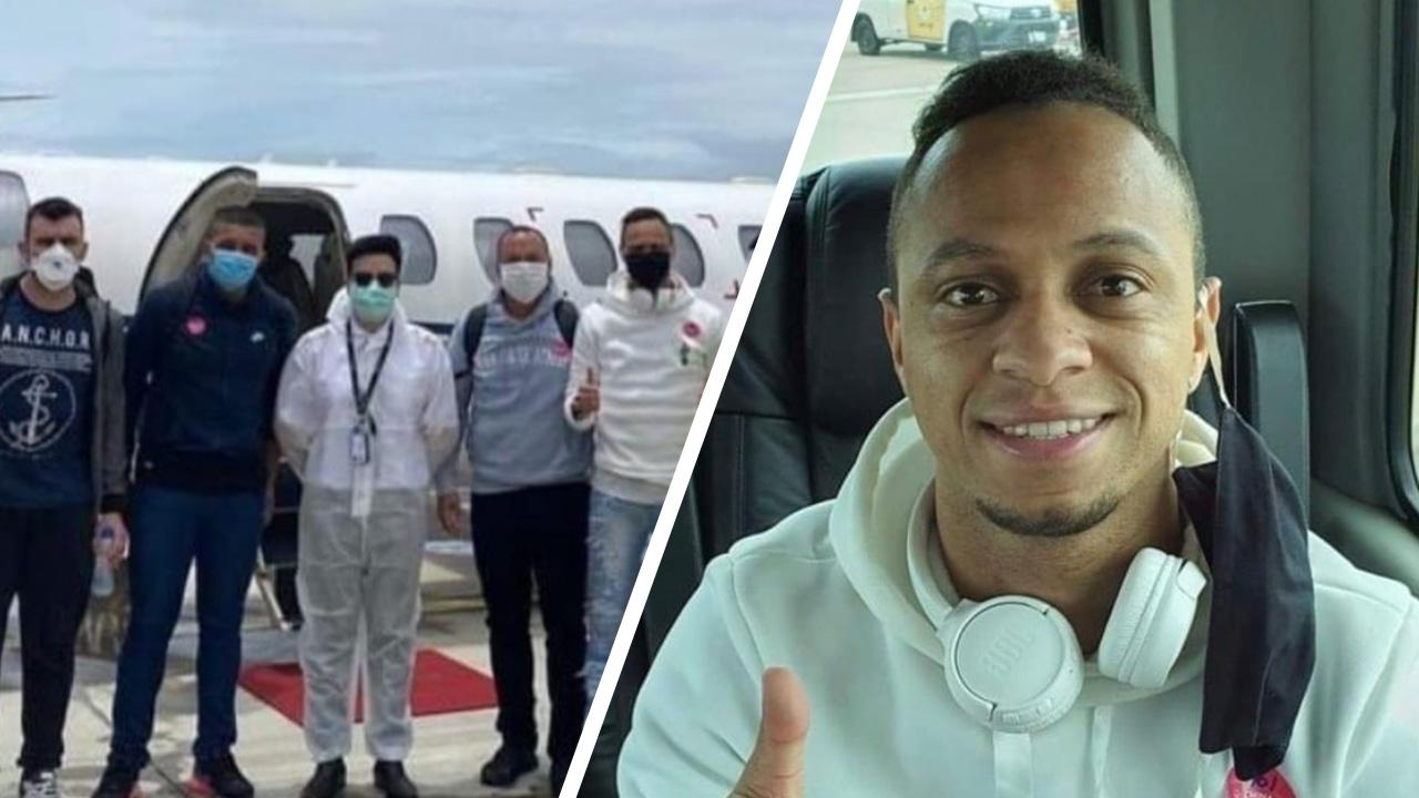 แข้งบราซิล เช่าเหมาลำ เดินทางถึงไทย พร้อมเข้ากระบวนการกักตัว