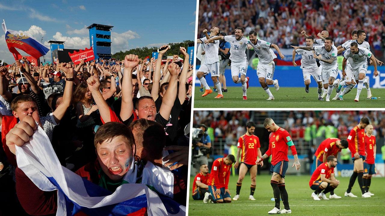 สเปนพ่ายดวลโทษ เจ้าภาพเข้ารอบ บดกัน 120 นาที 1-1