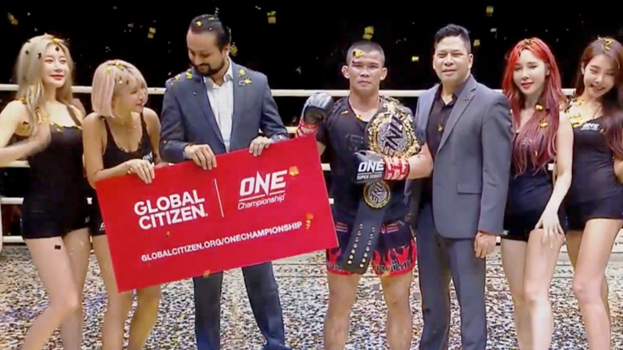 """""""น้องโอ๋"""" ป้องแชมป์โลกมวย ONE ที่เวียดนาม 5 นักชกไทยโดนน็อกไป 1 (คลิป)"""