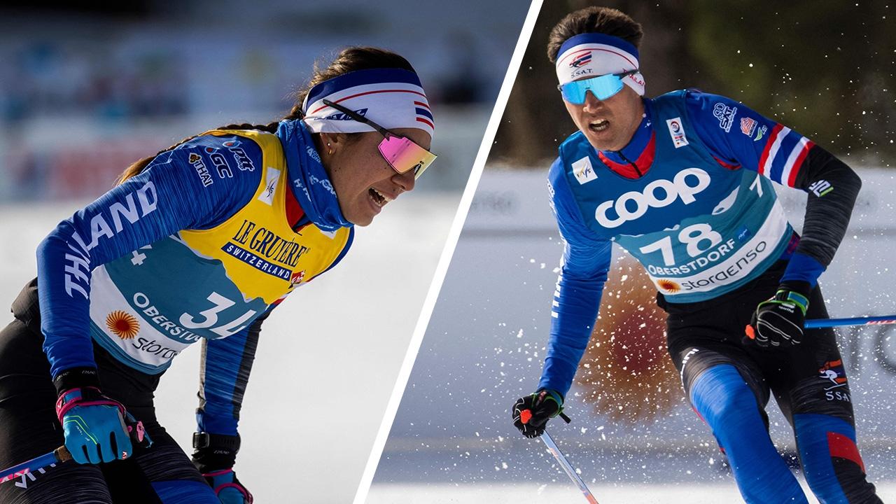 """""""มรรค"""" เข้าป้ายอันดับ 1 สกีชิงแชมป์โลก 2021 คัดเลือกรอบสุดท้าย"""