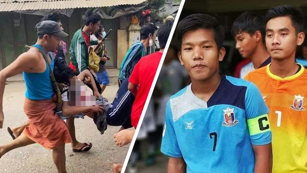 เศร้า! นักบอลเมียนมา ยู-21 ถูกกองกำลังทหารของคณะรัฐประหารฯ ยิงเสียชีวิต