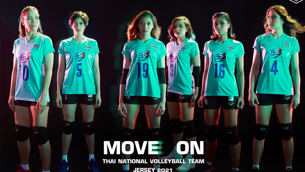 """ตัดสีแดงออก เพิ่มเขียวมินต์ """"แกรนด์สปอร์ต"""" เปิดตัวชุดแข่ง """"วอลเลย์บอลทีมชาติไทย"""" 2021"""