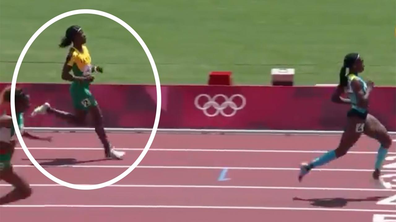"""ติดประมาท """"นักวิ่งสาวจาเมกา"""" ทองแดง 100 ม. ตกรอบคัดเลือก 200 ม. โอลิมปิก (คลิป)"""