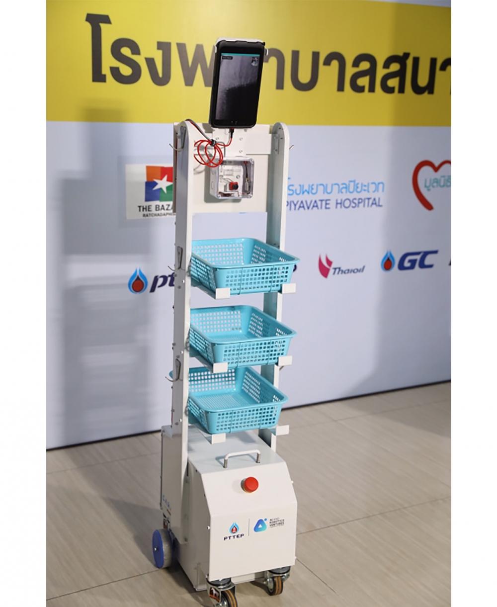 หุ่นยนต์ CARA ปฏิบัติหน้าที่ที่โรงพยาบาลสนามครบวงจร (End – to – End)