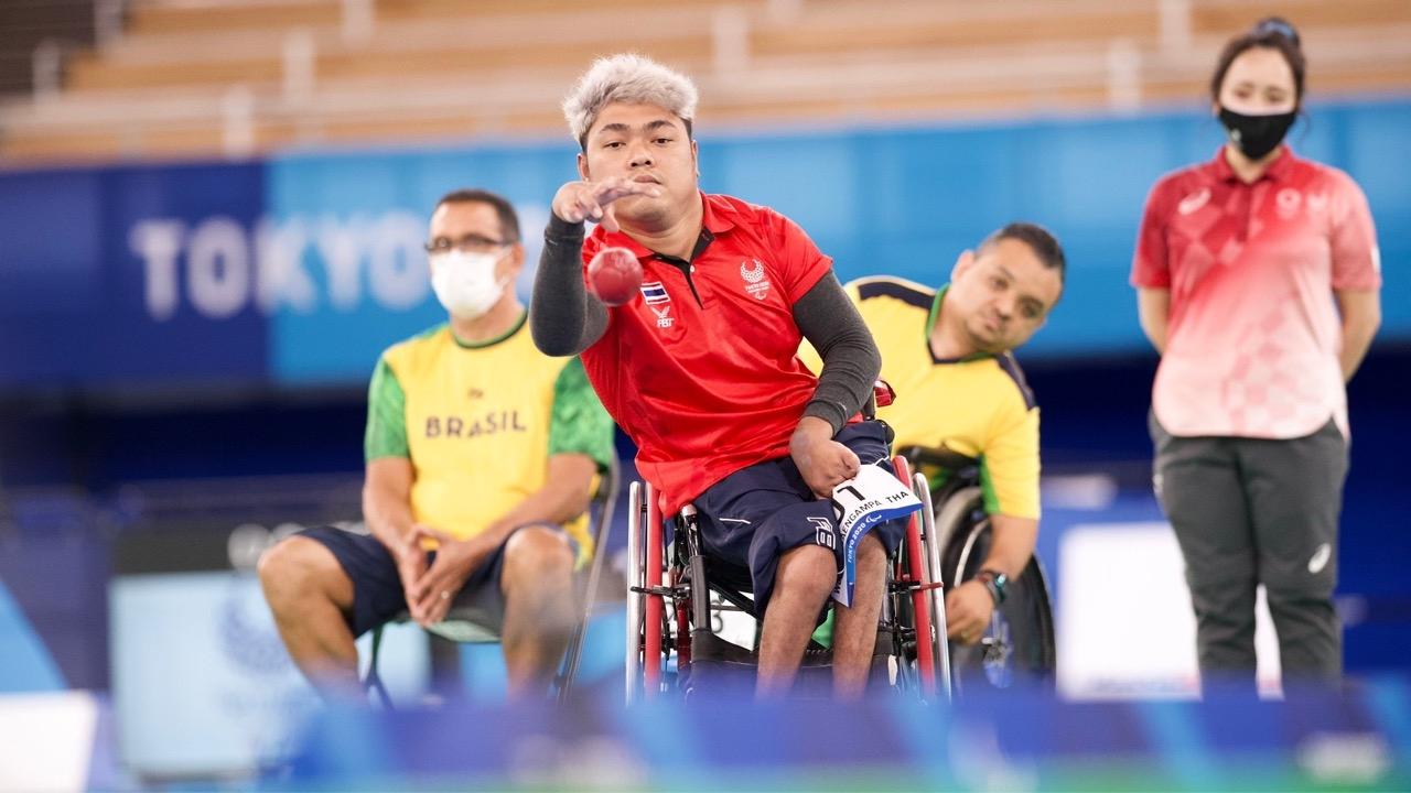 """ชวดทองแดง """"วรวุฒิ"""" พ่ายคู่แข่งจากบราซิล 3-4 ชิงที่ 3 บอคเซีย """"พาราลิมปิก"""""""