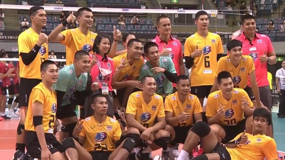 """""""ตบหนุ่มไทย"""" ทุบ """"ฮ่องกง"""" คว้าชัยนัดแรก ลูกยางชิงแชมป์เอเชีย 2021"""