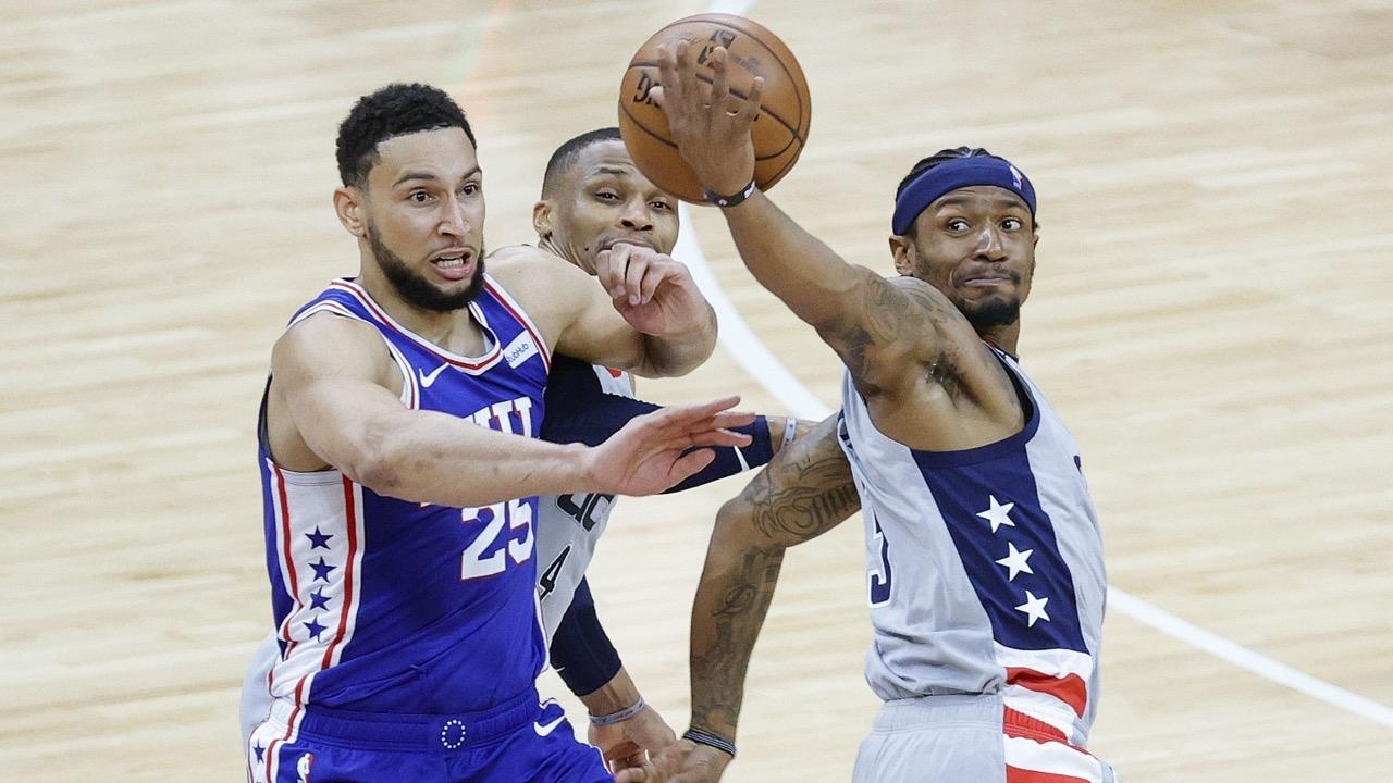 """""""ซิกเซอร์ส"""" กำราบ """"วิซาร์ดส์"""" 129-112 ปิด 4-1 ซีรีส์ ยัดห่วง NBA"""