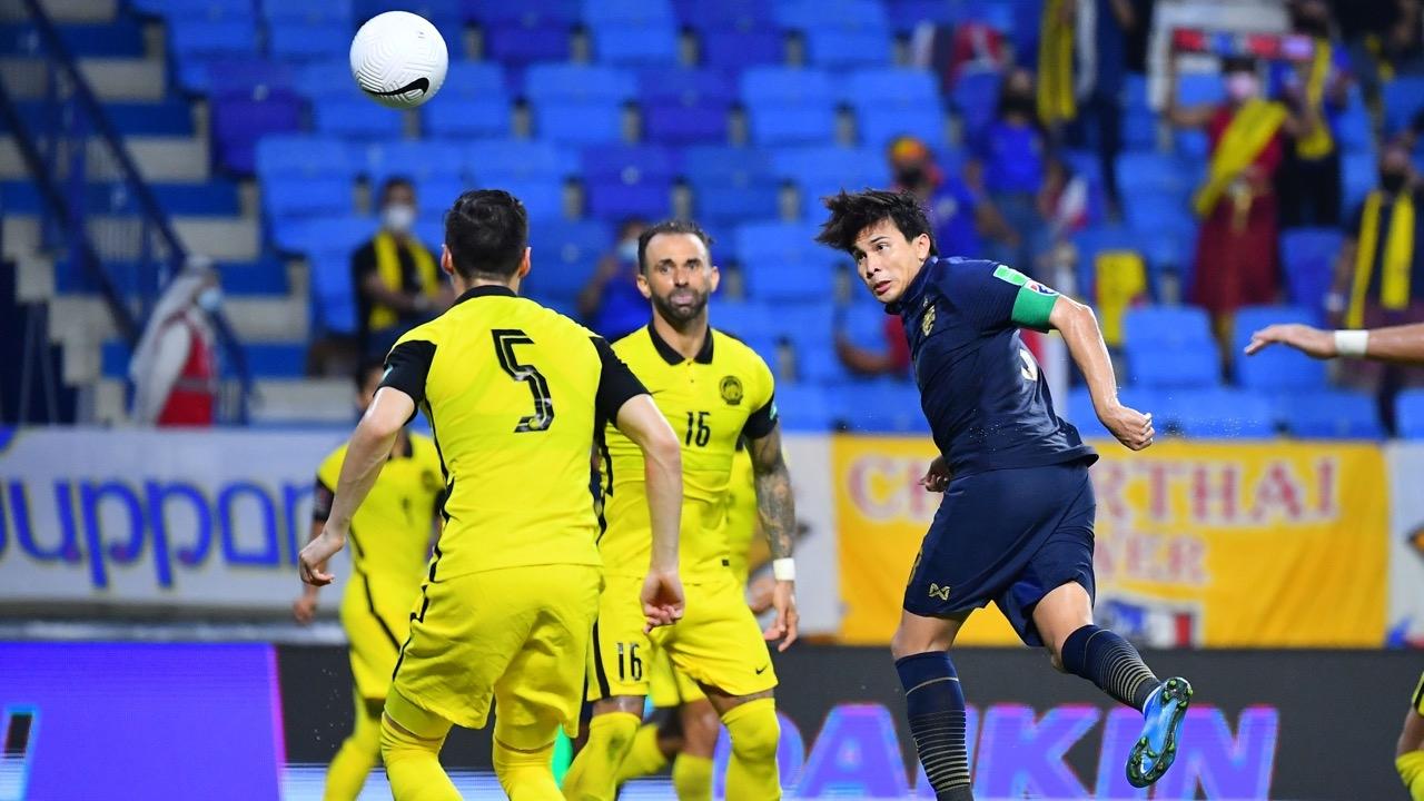 """เจาะสถิติหลังเกม """"ทีมชาติไทย"""" แพ้ """"มาเลเซีย"""" ปิดท้ายคัดบอลโลก 2022"""