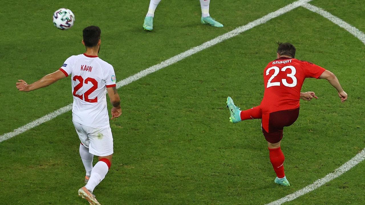 ชาคิรีเหมาสอง สวิตเซอร์แลนด์ ไล่อัด ตุรกี 3-1 นัดสุดท้ายกลุ่มเอ ยูโร 2020